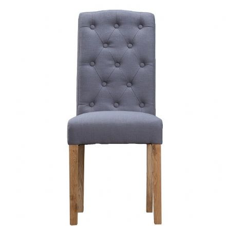 Loire Grey Button Back Upholstered Chair